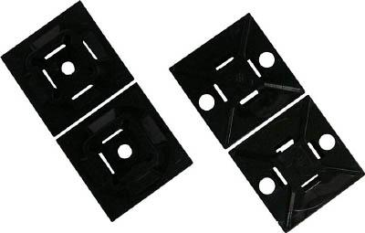 パンドウイット マウントベース アクリル系粘着テープ付き 耐候性黒【ABM100-AT-D0】(電設配線部品・ケーブルタイ)