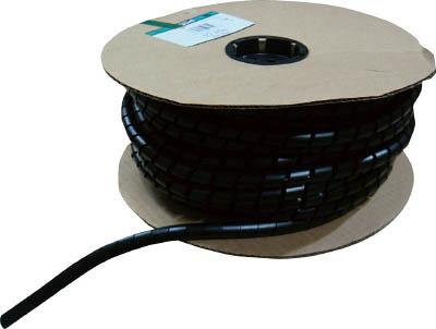 パンドウイット スパイラルラッピング 耐候性ナイロン66 黒【T100N-C0】(梱包結束用品・結束バンド)
