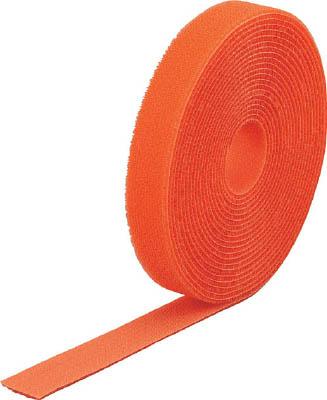 TRUSCO マジック結束テープ 両面 オレンジ 40mm×25m【MKT-40250-OR】(梱包結束用品・結束バンド)