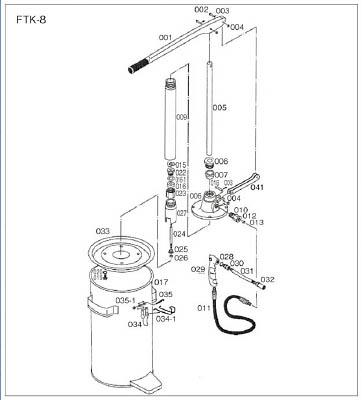 TRUSCO FTK8用 タンク【FTK-017】(車輌整備用品・グリスガン・グリス注入器)