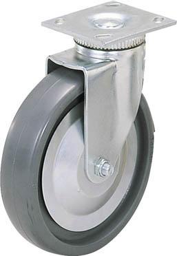 スガツネ工業 重量用キャスター径203自在SE(200ー012ー452)【SUGT-408-PSE】(キャスター・重荷重用キャスター)