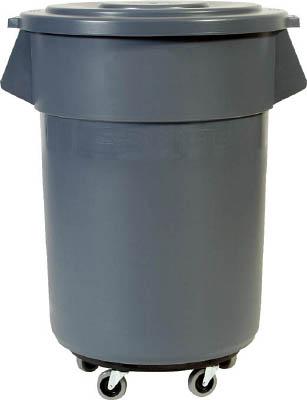 ラバーメイド ブルート丸型コンテナ 208.2L グレー【2655GRAY】(清掃用品・ゴミ箱)