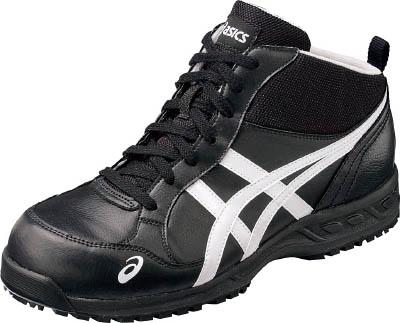アシックス 作業用靴 ウィンジョブ35L ブラックXホワイト 24.5cm【FIS35L.9001-24.5】