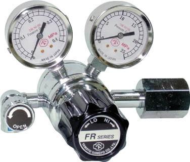 分析機用二段圧力調整器 FR-1B【FR1BTRC11】(溶接用品・ガス調整器)
