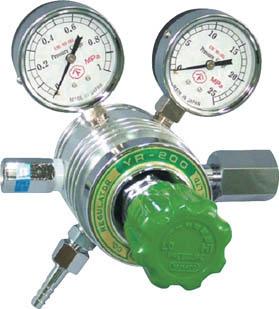 フィン付圧力調整器 YR-200【YR200B】(溶接用品・ガス調整器)
