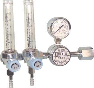 二連式流量計付アルゴン用圧力調整器 YR-85F2【YR85F2】(溶接用品・ガス調整器)