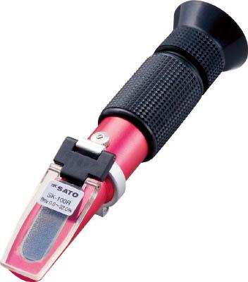 佐藤 手持屈折計Rシリーズ SK-100R(0180-00)【SK-100R】(計測機器・水質・水分測定器)