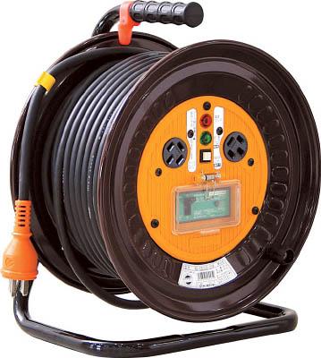 日動 電工ドラム 三相200Vドラム アース漏電しゃ断器付 30m【ND-EB330-20A】(コードリール・延長コード・コードリール200V)
