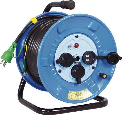 日動 電工ドラム 防雨防塵型100Vドラム アース付 30m【NPW-E33】(コードリール・延長コード・コードリール防雨型)