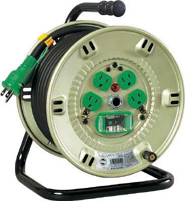 日動 100V漏電遮断器付電工ドラム【NP-EB24】(コードリール・延長コード・コードリールブレーカー付)