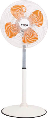 スイデン 工場扇(大型扇風機)スタンド1本脚型樹脂ハネ45cm単相100V【SF-45VF-1VP】(冷暖対策用品・工場扇)