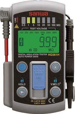 SANWA スマートスタイル7レンジ式デジタル絶縁抵抗計【HG561H】(計測機器・電気測定器)