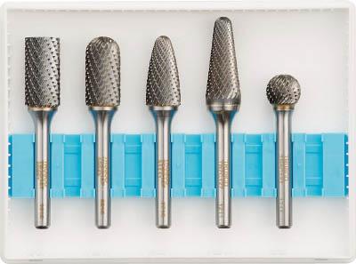 TRUSCO 超硬バーセットCシリーズ 軸6mm 刃径12.7mm 5本セット【TB-C127-5S】(研削研磨用品・超硬バー)