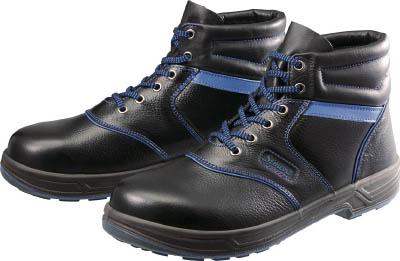 シモン 安全靴 編上靴 SL22-BL黒/ブルー 25.0cm【SL22BL-25.0】(安全靴・作業靴・安全靴)