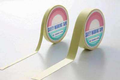 緑十字 「超」高輝度蓄光テープ 10mm幅×5m PET【364001】(テープ用品・安全表示テープ)