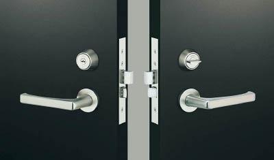 MIWA レバーハンドル錠【TRLA50-1】(建築金物・工場用間仕切り・鍵)