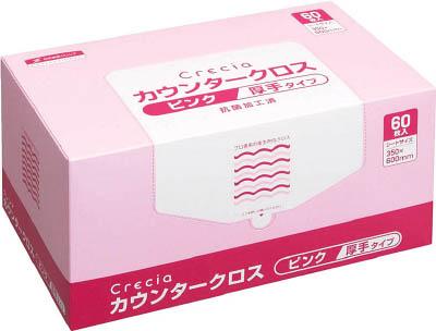 クレシア カウンタークロス 厚手タイプ ピンク【65322】(労働衛生用品・食品衛生用品)