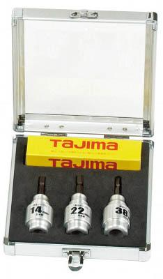タジマ ムキソケ 14、22、38セット【DK-MS3SSET】(電設工具・ワイヤストリッパー)