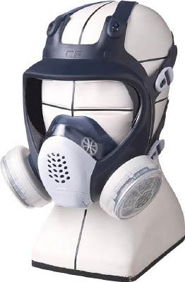 シゲマツ 直結式小型全面形防毒マスク【GM185C-M】(保護具・防毒マスク)