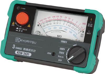 KYORITSU 3レンジアナログ絶縁抵抗計【KEW3432】(計測機器・電気測定器)