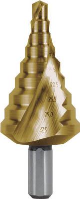 RUKO 2枚刃スパイラルステップドリル 32.5mm チタン【101-092T】(穴あけ工具・ステップドリル)