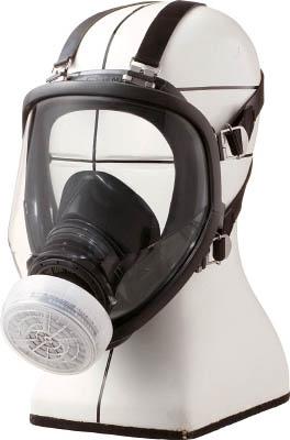 シゲマツ 直結式小型全面形防毒マスク【GM166】(保護具・防毒マスク)