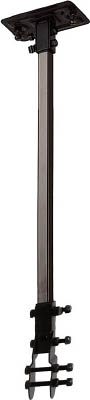 "TRUSCO 45CM全閉式工場扇""ゼフィール""ハンガーアングル(ブラック)【TFZP-H-BK】(冷暖対策用品・工場扇)"