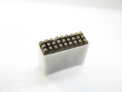 TRUSCO 逆英字刻印セット 3mm【SKC-30】(ハンマー・刻印・ポンチ・刻印)