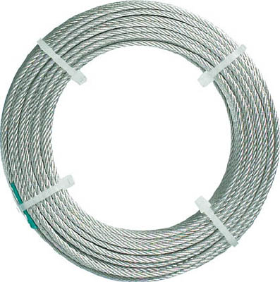 TRUSCO ステンレスワイヤロープ ナイロン被覆 Φ2.0(2.5)mmX20【CWC-2S200】