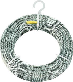 TRUSCO ステンレスワイヤロープ Φ6mmX50m【CWS-6S50】(建築金物・工場用間仕切り・ワイヤロープ)