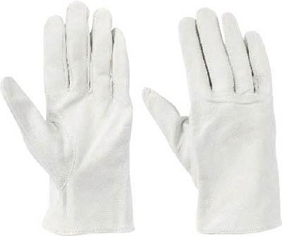 トワロン 牛表革 クレスト白C(10双入)【472-C】(作業手袋・革手袋)
