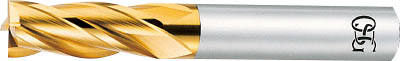 OSG ハイスエンドミル TIN 多刃ショート 22【EX-TIN-EMS-22】(旋削・フライス加工工具・ハイススクエアエンドミル)【送料無料】