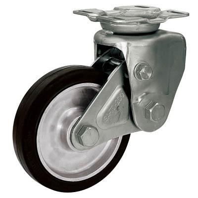 シシク 緩衝キャスター 固定 200径 ゴム車輪【SAK-TO-200TRAW】(キャスター・緩衝キャスター)【送料無料】
