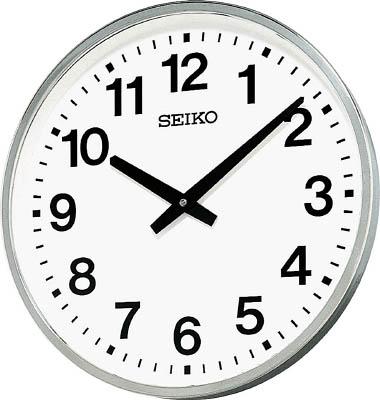 SEIKO 大型屋外防雨型オフィスクロック 直径450×78 金属枠【KH411S】(OA・事務用品・掛時計)