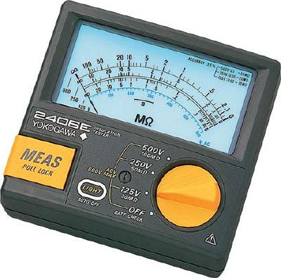 横河 アナログ絶縁抵抗計【2406-43】(計測機器・電気測定器)