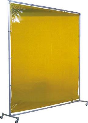 吉野 遮光フェンスアルミパイプ 2×2 単体キャスター イエロー【YS-22SC-Y】(溶接用品・溶接遮光フェンス)
