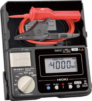 HIOKI 5レンジ絶縁抵抗計 スイッチ付きリード【IR4051-11】(計測機器・電気測定器)