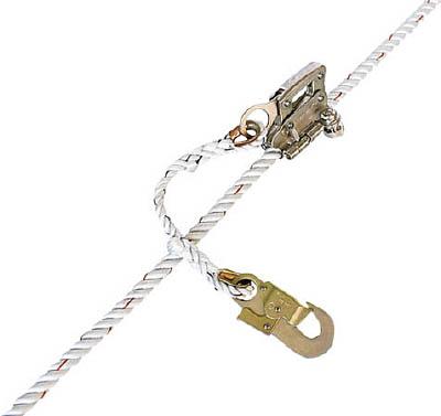 ツヨロン 傾斜面用ロリップ 1本吊り専用ランヤード【KS-3-BX】(保護具・安全帯)