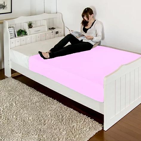 ベッド シングル 棚 コンセント 照明 引き出し 付き カントリー調 二つ折りボンネルコイルマットレス付(代引不可)【送料無料】