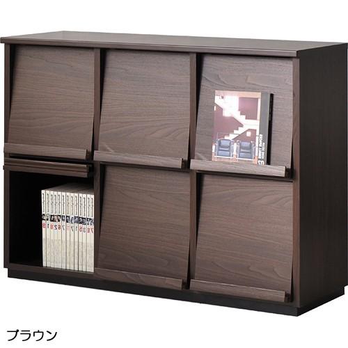 【送料無料】キャビネット 収納 家具 【wal-fit ウォルフィット】 キャビネット WF-8012DP  ブラウン (代引不可)【storage0901】【送料無料】