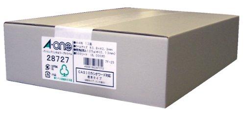 エーワン パソコンプリンタ&ワープロラベル 28727 (1箱)