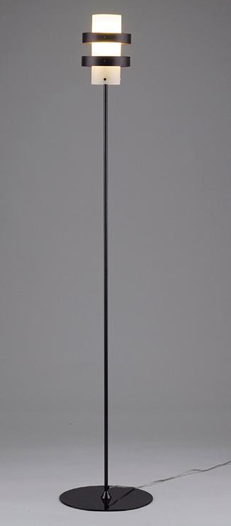 フロアスタンドライト 照明 ライト リビング V-9BKZ おしゃれ ブラック 黒色(代引不可)【送料無料】