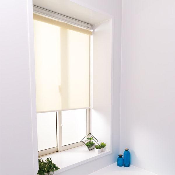 日本製 ロールスクリーン オーダー 1cm単位 浴室 浴室用 丸洗いOK 幅91~135cm 高さ30~90cm タチカワブラインドグループ(代引不可)【送料無料】