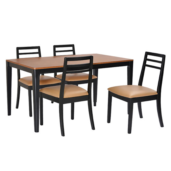 ダイニングテーブル 5点セット ダイニングセット 5点 ポンテ 135cm幅/4人掛け用 木製(代引不可)【送料無料】