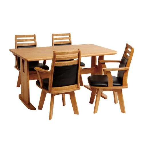 ダイニングテーブル5点セット ダイニングセット 4人掛け コバ ダイニング5点セット (135幅/4人掛け用)(代引不可)【送料無料】