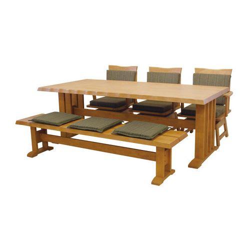 ダイニングテーブル5点セット ダイニングセット 4人掛け 伊吹 ダイニング5点セット (190幅/6人掛け用)(代引不可)【送料無料】