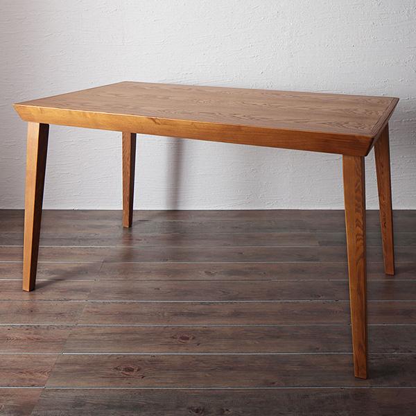ダイニングテーブル ダイニング テーブル 天然木 北欧 レトロ デザイン 天然木 アッシュダイニングシリーズ【serge】サージ テーブル単品 (幅135)(代引不可)【送料無料】
