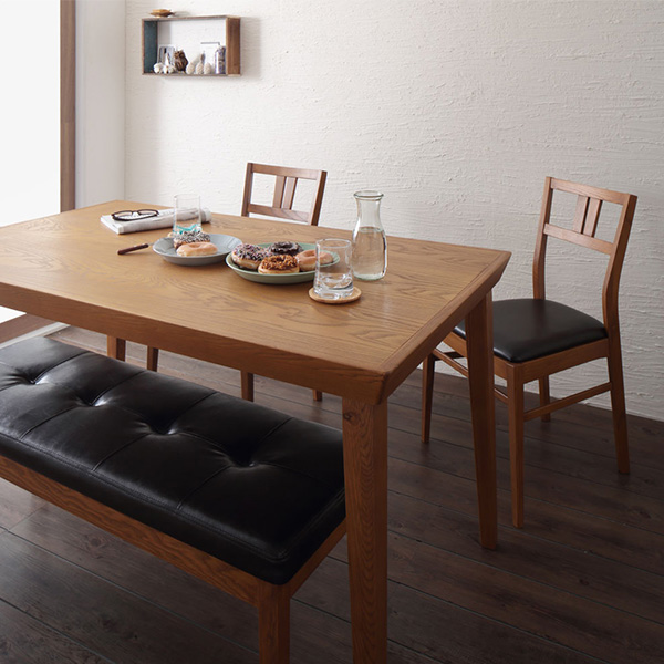 Fabulous Dining Table 4 Piece Set Natural Wood Scandinavian Retro Design Natural Wood Ash Dining Series Surge 4 Piece Set Table Chairs X 2 Bench Download Free Architecture Designs Rallybritishbridgeorg
