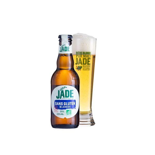 ジェード・オーガニック グルテン フリー 瓶 250ml×24本入り【ケース売り】 ビール フランス【送料無料】
