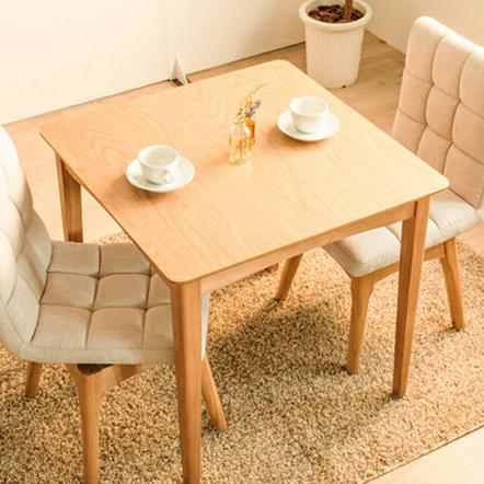 ダイニングテーブル 3点セット ダイニングセット 木製 北欧 幅75cm 正方形 回転ダイニングチェア2脚 木目 ウォールナット 食卓用(代引不可)【送料無料】